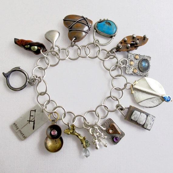 Charm Bracelet for Ganoksin - Collaboration Piece
