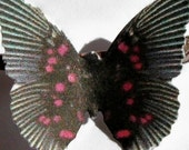 24 Pink And Black Butterfly Paper Embellishment For Scrapbooking, Weddings, Baby Showers, Wall Decor, DIY Butterfly Mobiles, Photo Props