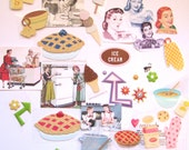 Destash Kitschy Kitchen Stickers & Paper Ephemera