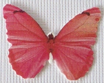24 Pink Butterfly Paper Embellishment For Scrapbooking