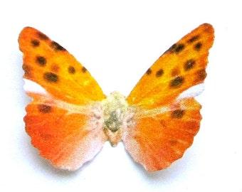 24 Fire Orange Cheetah Butterflies for Scrapbooking, DIY weddings, butterfly baby showers, wall art, cupcake toppers, school kits