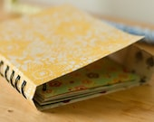 Spiral Peek Wrap Around Journal - Patterned Cover in Yellow