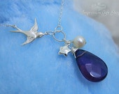 BN9014 -- Wedding Jewelry, Bridal, Bridesmaid Gifts, Birthday, Christmas Gifts (925 Sterling silver chain)