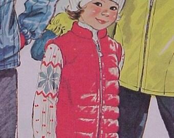 Pattern for Childs Vest or Jacket sz 8
