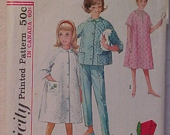 Vintage Girls Pajama Robe Pattern