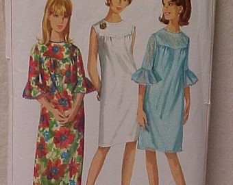 Vintage 1966 Pattern Misses Dress
