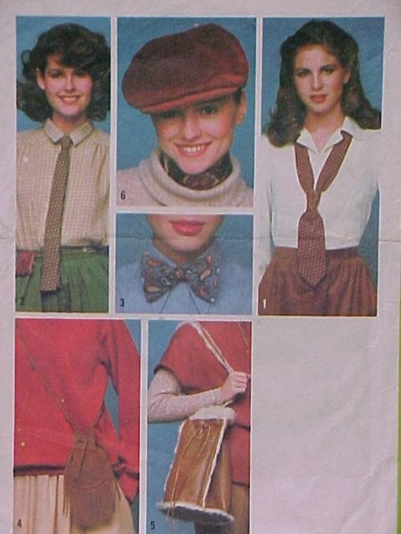 Vintage Pattern Purse Hat Tie UNCUT
