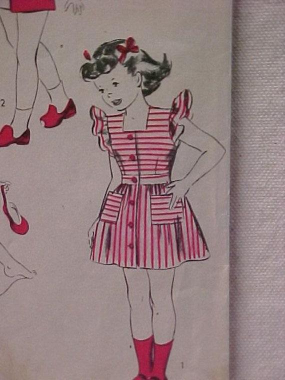 Vintage Hollywood Pattern Playsuit Pinafore UNCUT