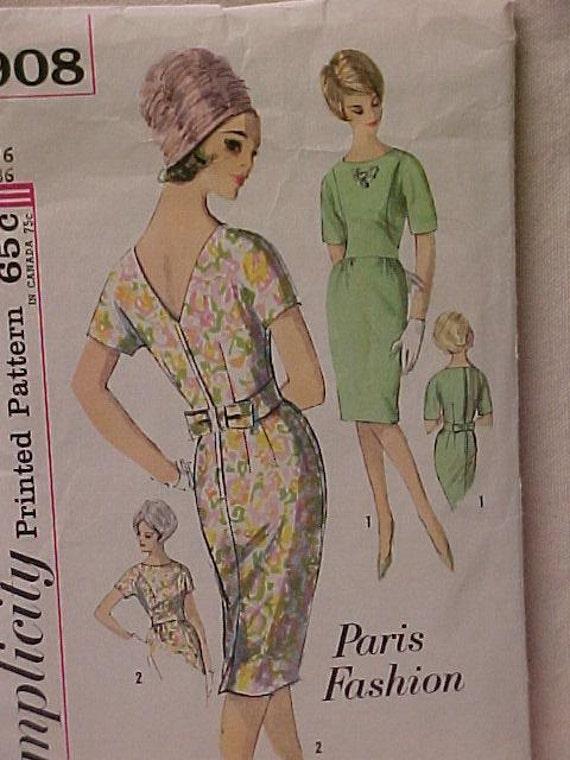 Vintage Paris Fashion Pattern UNCUT