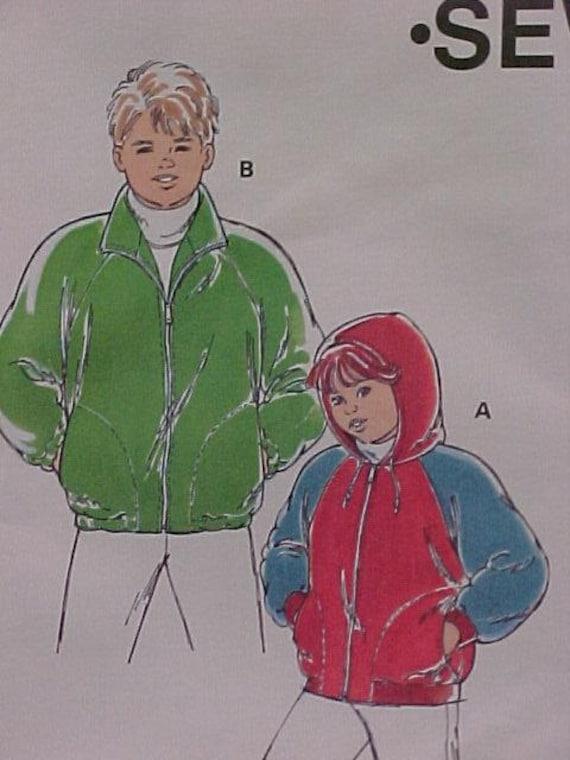 KwikSew Pattern for Boys Jacket UNCUT