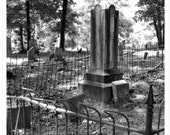 8X10 Noonday Cemetery Print - melancholy photography