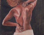 ACEO Giclee Print of African-American Female by artist Page Kiser