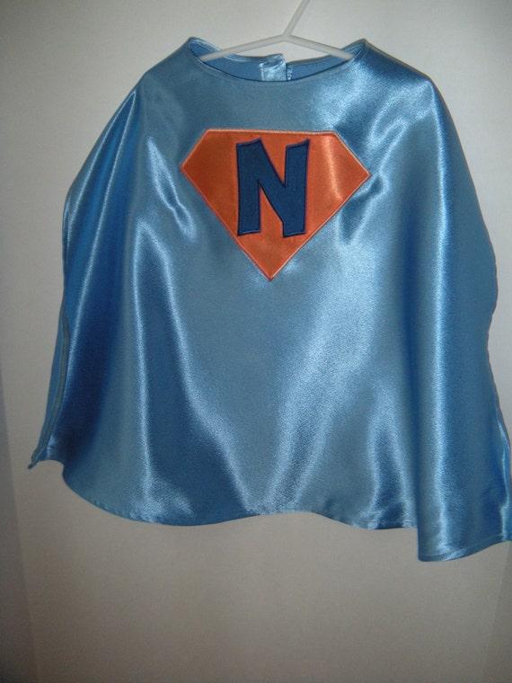 Personalized Light Blue Superhero Cape