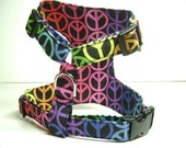 Small Dog Harness (PEACE)......Size X-Small.....fits 7-10 lbs