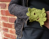 Annie Lime Splice Large Crochet Cuff