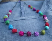 Confetti Sprinkles Crochet Necklace