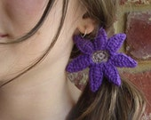Vivi Purple Crochet Flower Hair Tie