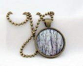 In The Woods Pendant, Antiqued Brass, Photography, Necklace, Photo Jewelry