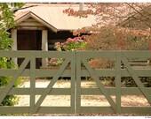 Chimney Cottage, Autumn Colours, 7x5 photograph, Behind The Gates, Photograph, Home Decor