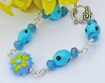 Blue And Green Springtime Bracelet