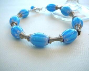 Sky Blue Beaded Bracelet