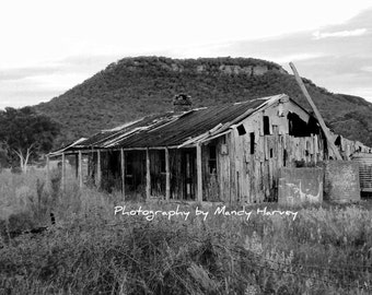 The Old House, Hartley, New South Wales, Australia, Black and White, 8x6