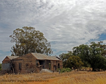 Abandoned, Rand, New South Wales, Australia, Dry Grassy Field, 9x6, rustic old house