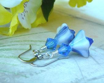 Denim Blue Earrings