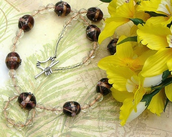 Chocolate Spirals With Copper Centred Beads Set