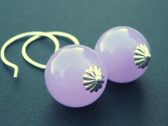 Lavender Jade Earrings - Misty Surprise