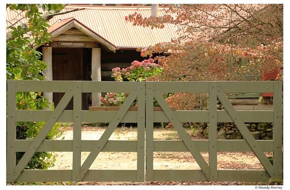 Chimney Cottage, Autumn Colours, 9x6 photograph, Behind The Gates, Photograph, Home Decor