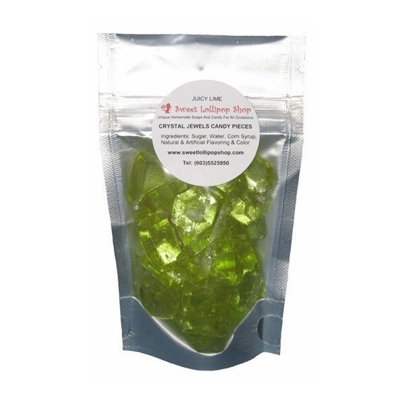 Crystal Jewels Barley Candy Sweets - GREEN LIME FLAVOR - 2oz Bags