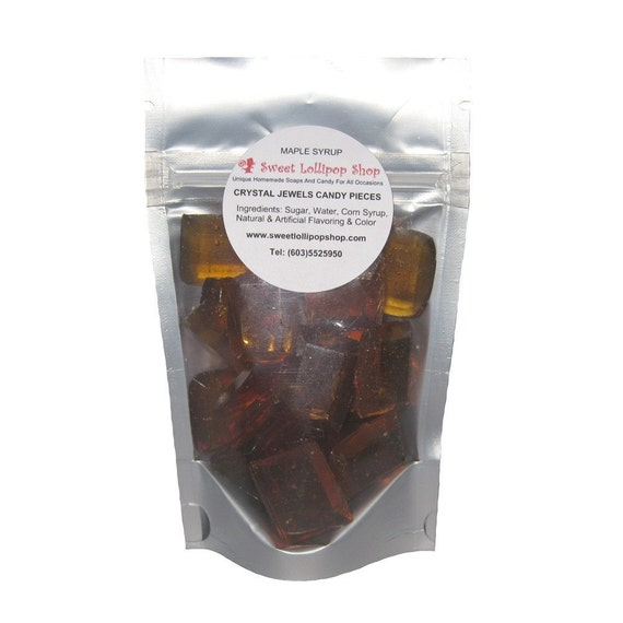 MAPLE SYRUP Crystal Jewels Barley Candy by SweetLollipopShop