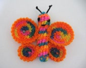 Crocheted Homegrown Organic Catnip Rainbow Butterfly Toy FREE US SHIPPING