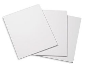 set of 10 8x10 white foam board for backing of artwork or framing