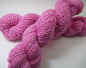 Recycled yarn - pink merino wool, lace weight