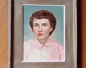 25% Off Sale Today - 1980s  Original Oil Painting Framed Woman's Portrait