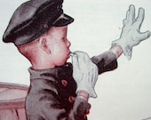 Stop and Go - Cherished Page of Ephemera,Vintage 1940s Children's Song about a Traffic Cop