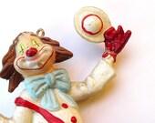 Retro Dancing Clown, Painted Plastic Decoration