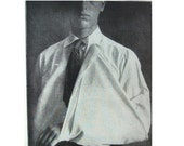 Man Broken Arm Sling, from 1916 Medical Book, Black and White Photo Illustrations of Bandaged Feet