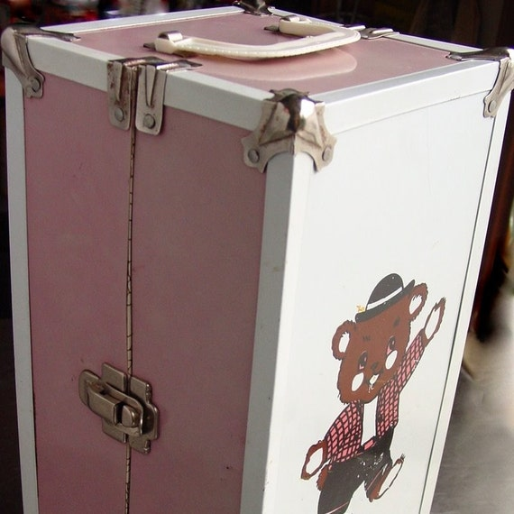 Vintage Metal Doll Clothes Carrier Case Trunk By
