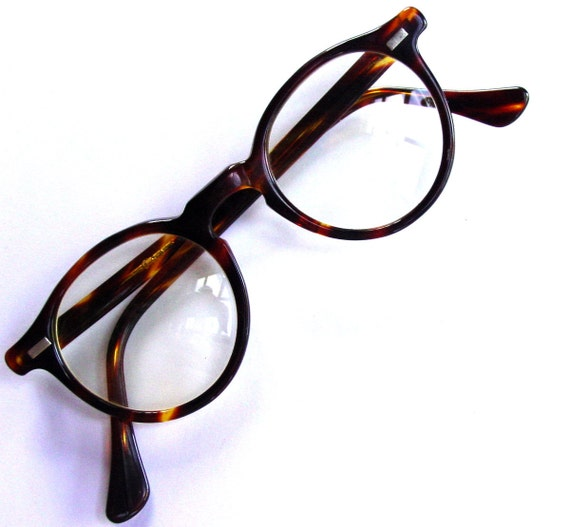 1980s preppy horn rimmed glasses by goodlookinvintage