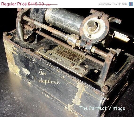 Antique 1910 Dictaphone - Steampunk Machine