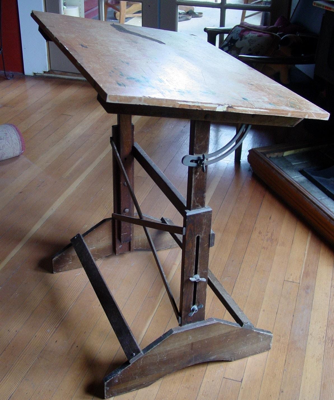 Industrial Anco Bilt Drafting Table Vintage By