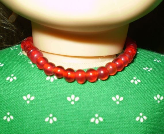 Red Glass Beads for American Girl