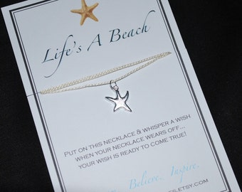 Life's A Beach Starfish Wish Necklace
