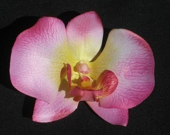 Pink Orchid Flower Hair Clip Retro, Wedding, PinUp - Buy 3 Items, Get 1 FREE