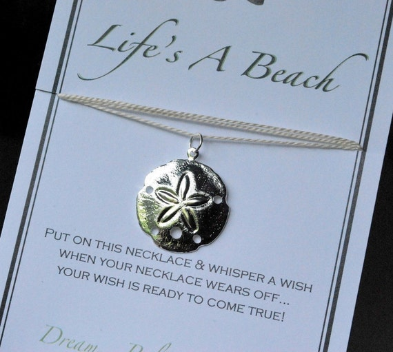 Life S A Beach Sand Dollar Wish Necklace Buy 3 Items Get