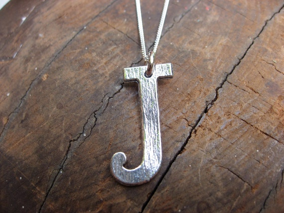 Silver Name Charm Necklace