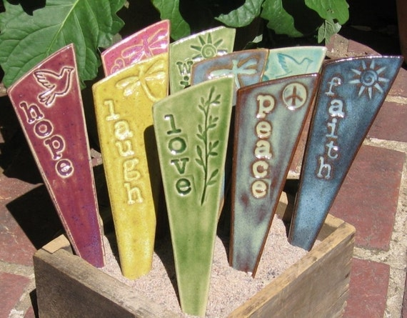 Inspirational Garden Stakes For Your Yard & Planters -  A set of 3